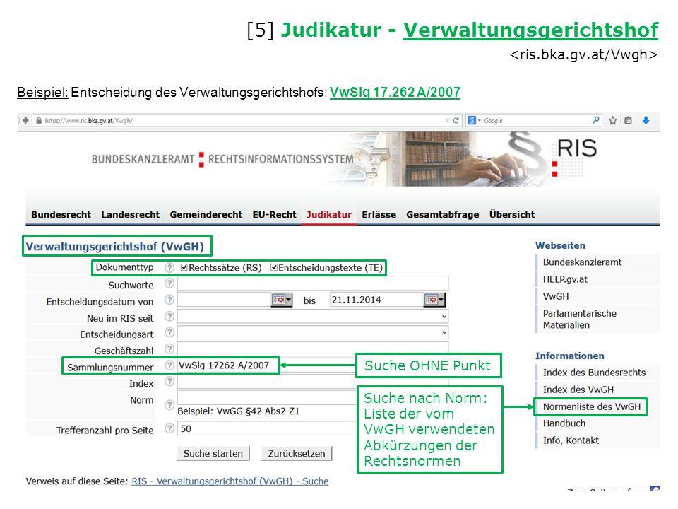 [5] Judikatur - Verwaltungsgerichtshof <ris.bka.gv.at/Vwgh>